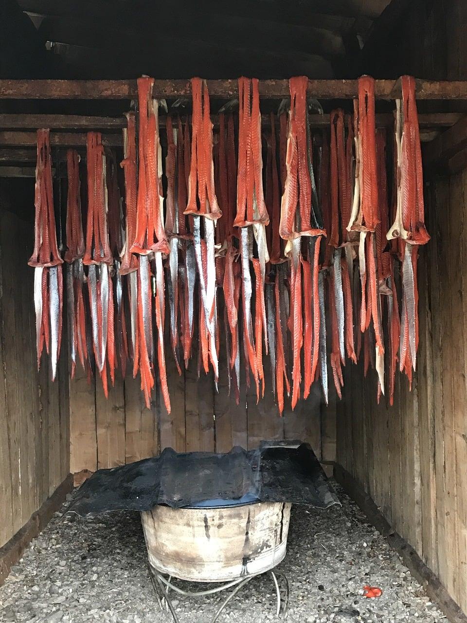 process of smoking salmon