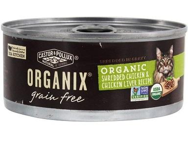 Castor & Pollux, Cat Organix Shredded Chicken and Liver Organic