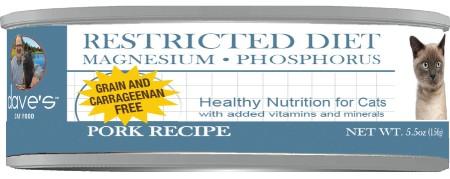 Dave's Pet Food Restricted Diet Magnesium & Phosphorus Grain-Free Pork Recipe