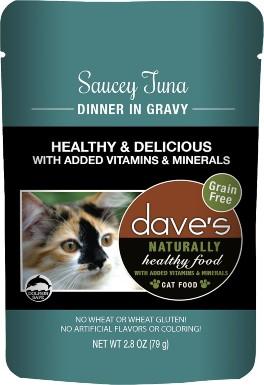 Dave's Pet Food Saucey Tuna Dinner in Gravy Grain-Free Wet Cat Food