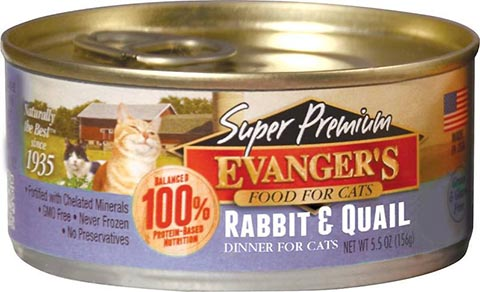 Evanger's Super Premium Rabbit & Quail Dinner Grain-Free Canned Cat Food