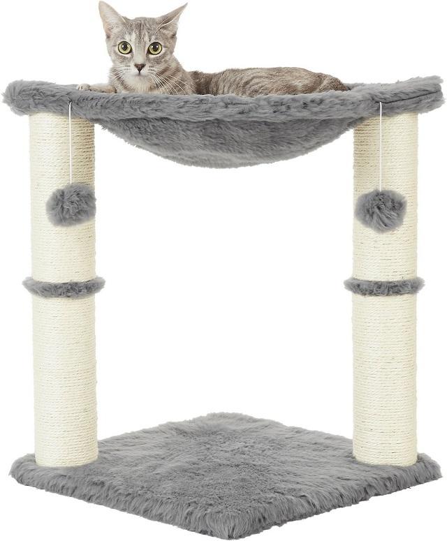 Frisco 20-in Faux Fur Cat Tree