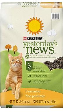 PURINA Yesterday's News Odor Control, Lightweight, Unscented Paper Cat Litter