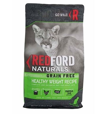Redford Naturals Grain Free Healthy Weight Chicken Recipe Adult Cat Food