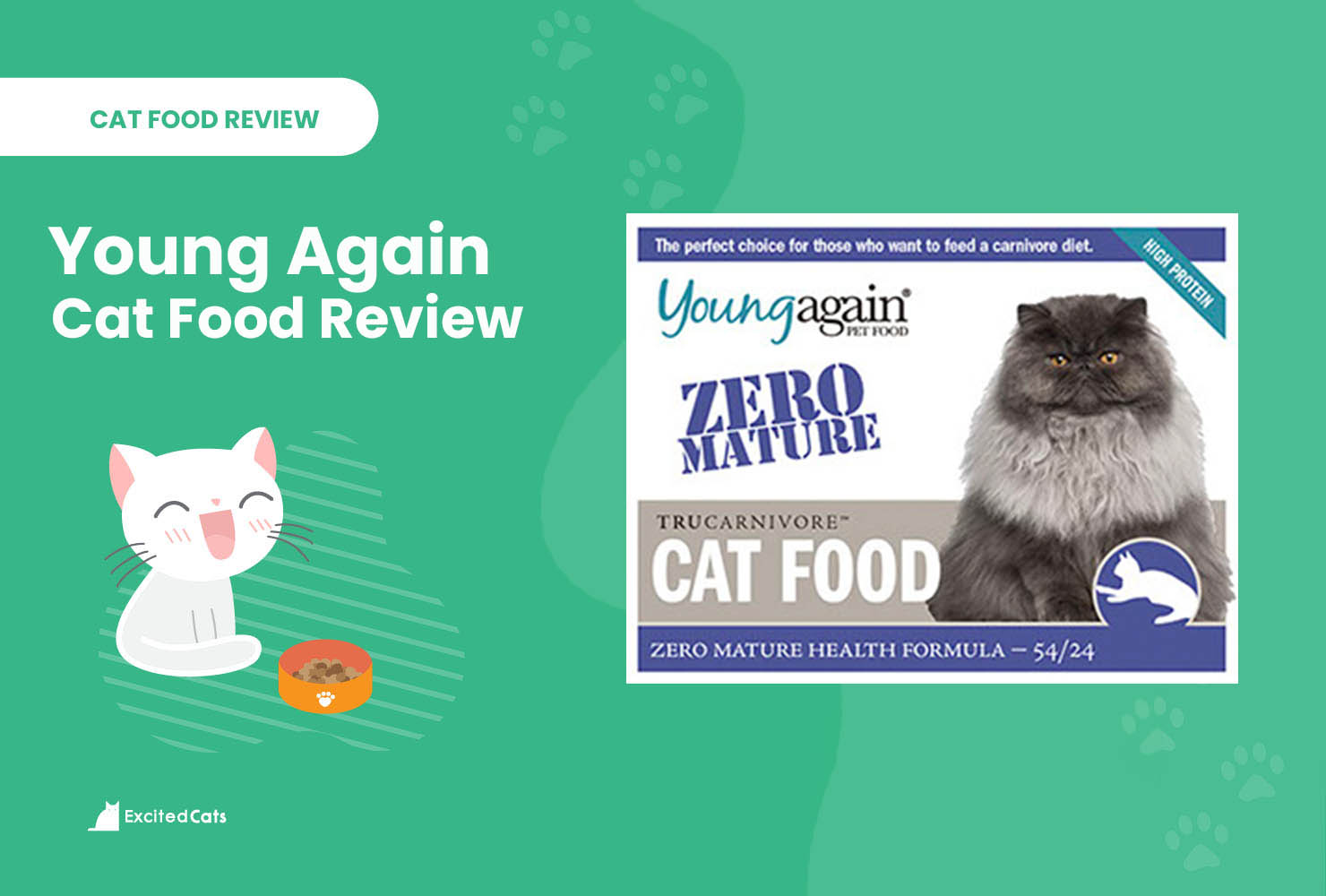 young again cat food review
