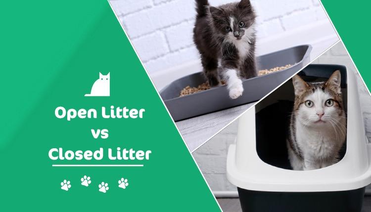 open vs closed litter header